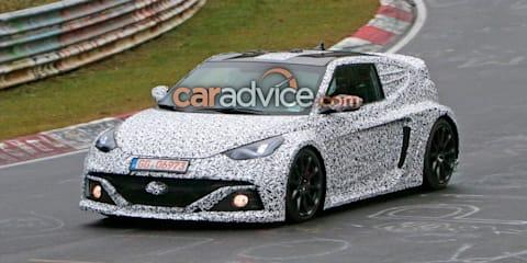 Hyundai Veloster RM16 N mid-engine sports car spied at Nurburgring