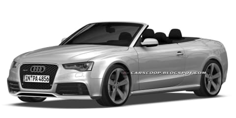 Audi RS 5 Cabriolet leaked in patent images