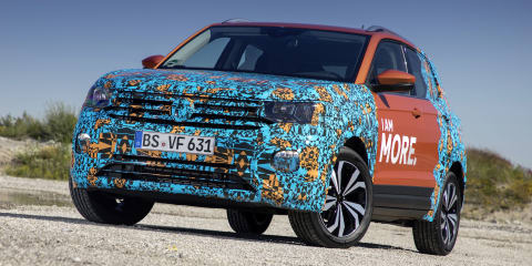 2019 Volkswagen T-Cross teased in the flesh