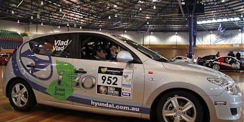 Hyundai i30 CRDi Racing in Targa Tasmania