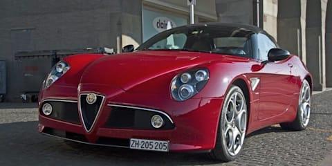 Alfa Romeo 8C Spider exhaust note video