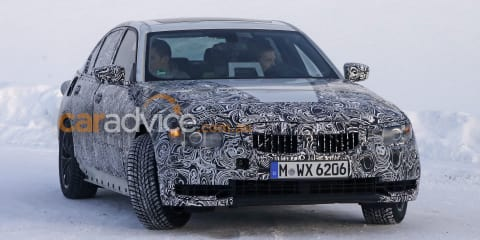 2017 BMW 3 Series sedan spy photos
