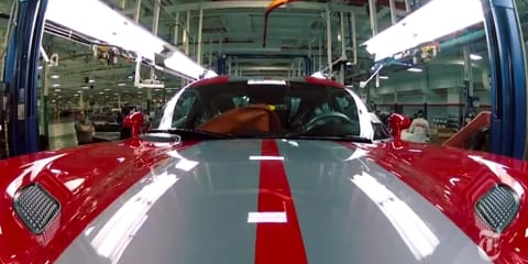 SRT Viper production line video: a snake takes shape