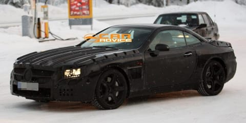 2012 Mercedes-Benz SL63 AMG winter spy shots