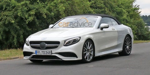 Mercedes-AMG S63 cabriolet spy photos