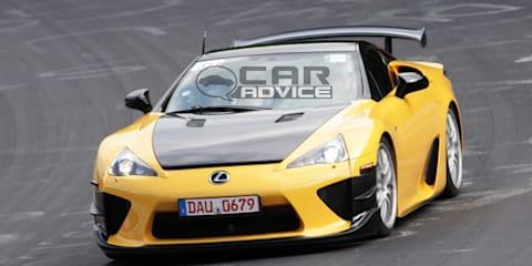 Lexus LFA chasing Nürburgring lap record