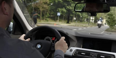 BMW left turn assistant, car-to-x communication detailed
