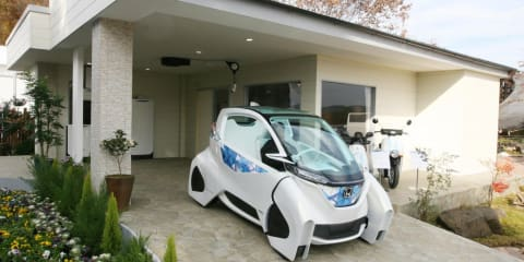 Honda Micro Commuter Car Concept: Electric bike included