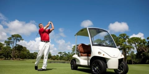 The Garia luxury golf car world premiere