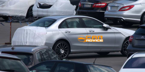 2014 Mercedes-Benz C-Class spy shots reveal S-Class-inspired panels
