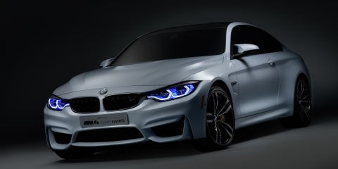 BMW M4 Iconic Lights concept debuts laser headlights with spotlight, width markers