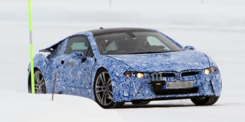 BMW i8 production car spied