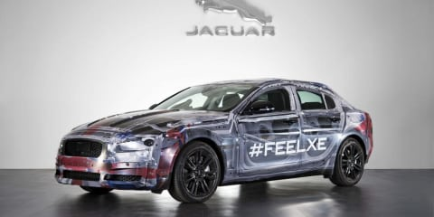 Jaguar XE teased in see-through body wrap ahead of October launch