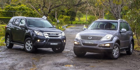 Isuzu MU-X v Ssangyong Rexton : Comparison review