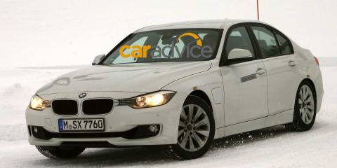 BMW 3 Series : plug-in hybrid sedan spied camouflage free