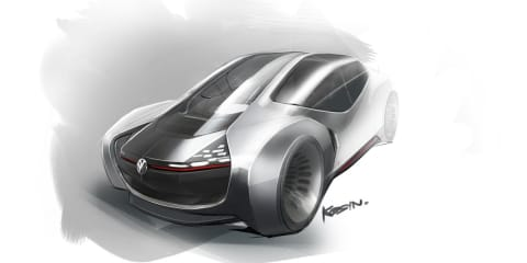 Volkswagen Trimaran Concept previews 2025 autonomous vehicle