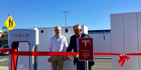 Tesla Supercharger site opens in Ballarat