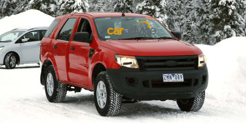 Ford Everest : Australian-engineered SUV spied in the snow