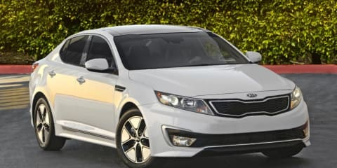 2011 Kia Optima Hybrid at Los Angeles Auto Show