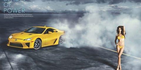 Video: Lexus LFA supercar and supermodel ad campaign