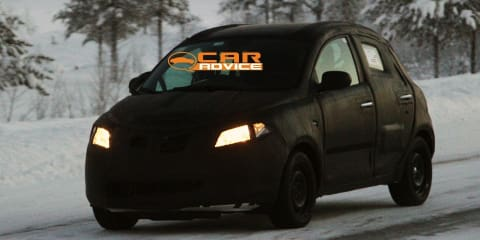 2012 Lancia Ypsilon spy shots during winter testing