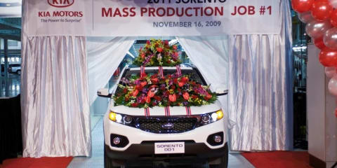 Kia begins production at first US plant