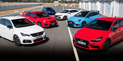 Best hot hatch: 2018 Ford Focus RS v Honda Civic Type R v Hyundai i30 N v Peugeot 308 GTi v Subaru WRX STI v Volkswagen Golf R