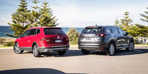 2018 Volkswagen Tiguan Allspace v Mazda CX-8 comparison