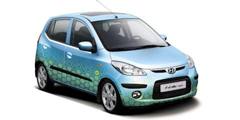 Hyundai i10 & i30 blue concept at MIMS