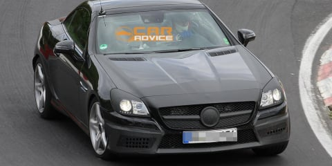 2012 Mercedes-Benz SLK 55 AMG spy shots almost reveal all