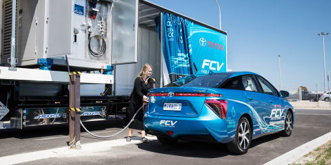Toyota reveals mobile hydrogen refueller, joins Mirai trio in Australia