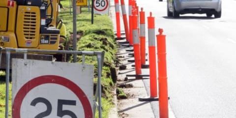 Victorian road work speed limits revised