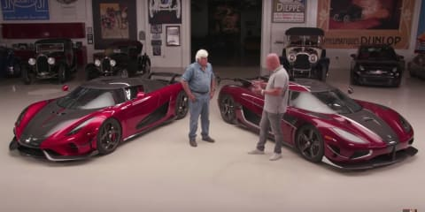 Jay Leno takes the Koenigsegg Regera for a drive - video