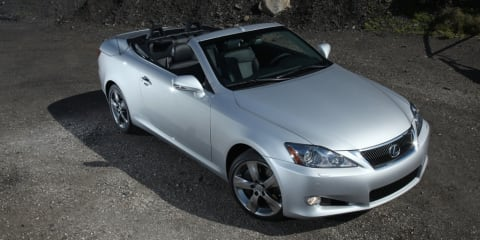 2009 Lexus IS250C on test in Oz outback