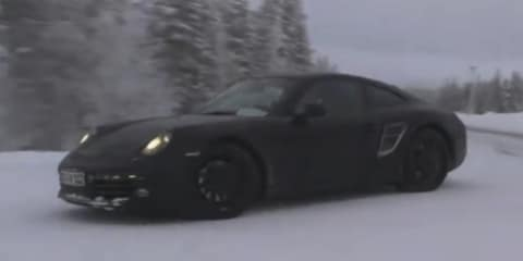 Video: 2012 Porsche 911 spied winter testing