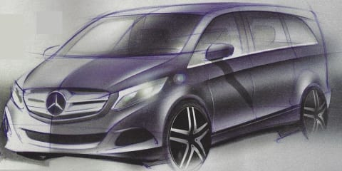 Mercedes-Benz Viano design sketches leaked