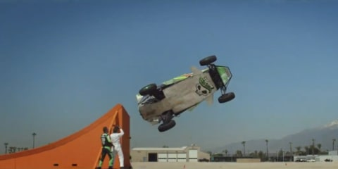 Team Hot Wheels sets new 'corkscrew' stunt record