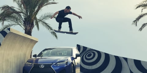Lexus hoverboard revealed in action: keep those liquid-nitrogen refills handy