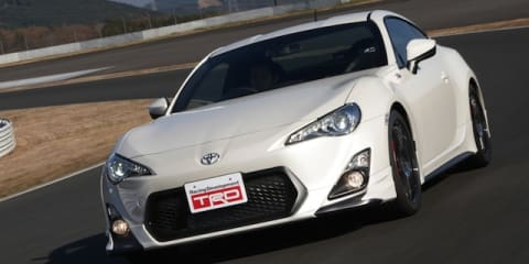 Toyota 86 TRD hits the track