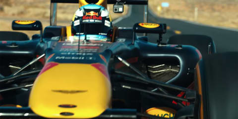 Daniel Ricciardo takes his F1 racer on a USA road trip - video