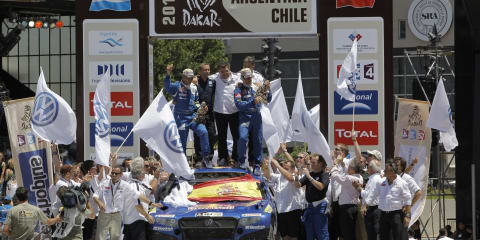 Volkswagen goes one-two-three in Dakar Rally
