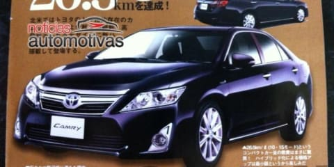 2012 Toyota Aurion revealed, on sale in Australia late-Q1