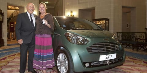 Aston Martin Cygnet – Sir Stirling Moss buys one