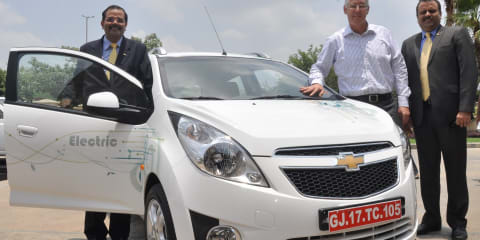 Chevrolet Beat EV concept unveiled in India