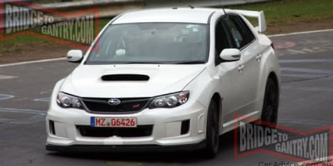 2011 Subaru Impreza WRX STI prototype spied on the 'Ring