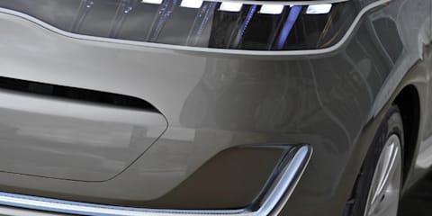 Kia KV7 Concept Study teaser preview to Detroit Auto Show