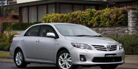 2010 Toyota Corolla sedan updated for Australia