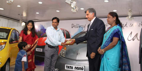 First Tata Nano delivered to proud Indian family