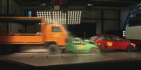 Video: ADAC multi-car crash test asks for mandatory EBA for trucks