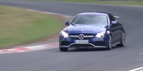 Mystery AMG C63 spied at the Nurburgring - video: New 'R' or Black Series model coming?